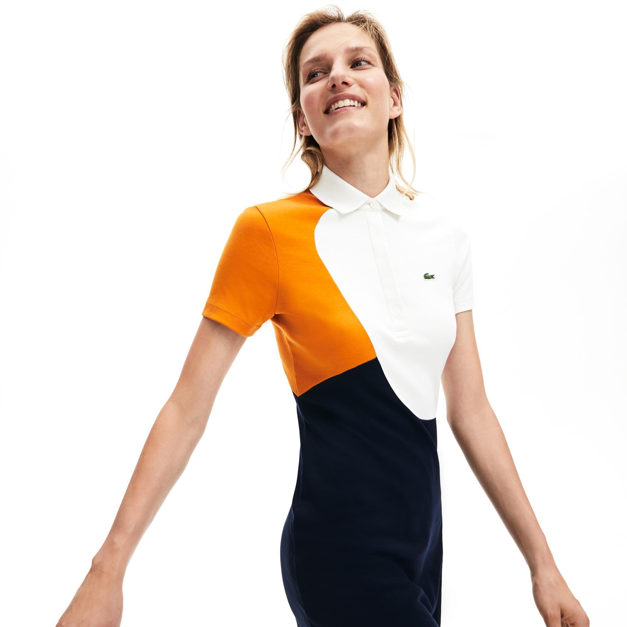Lacoste Kadın Blok Desenli Renkli Elbise