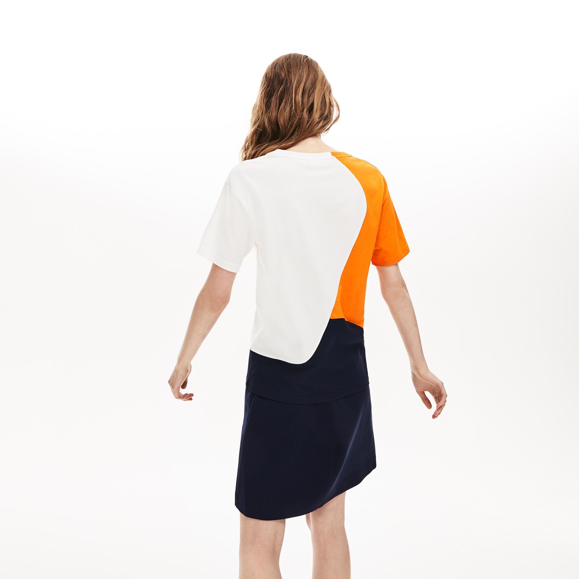 Lacoste Kadın Blok Desenli Renkli T-Shirt