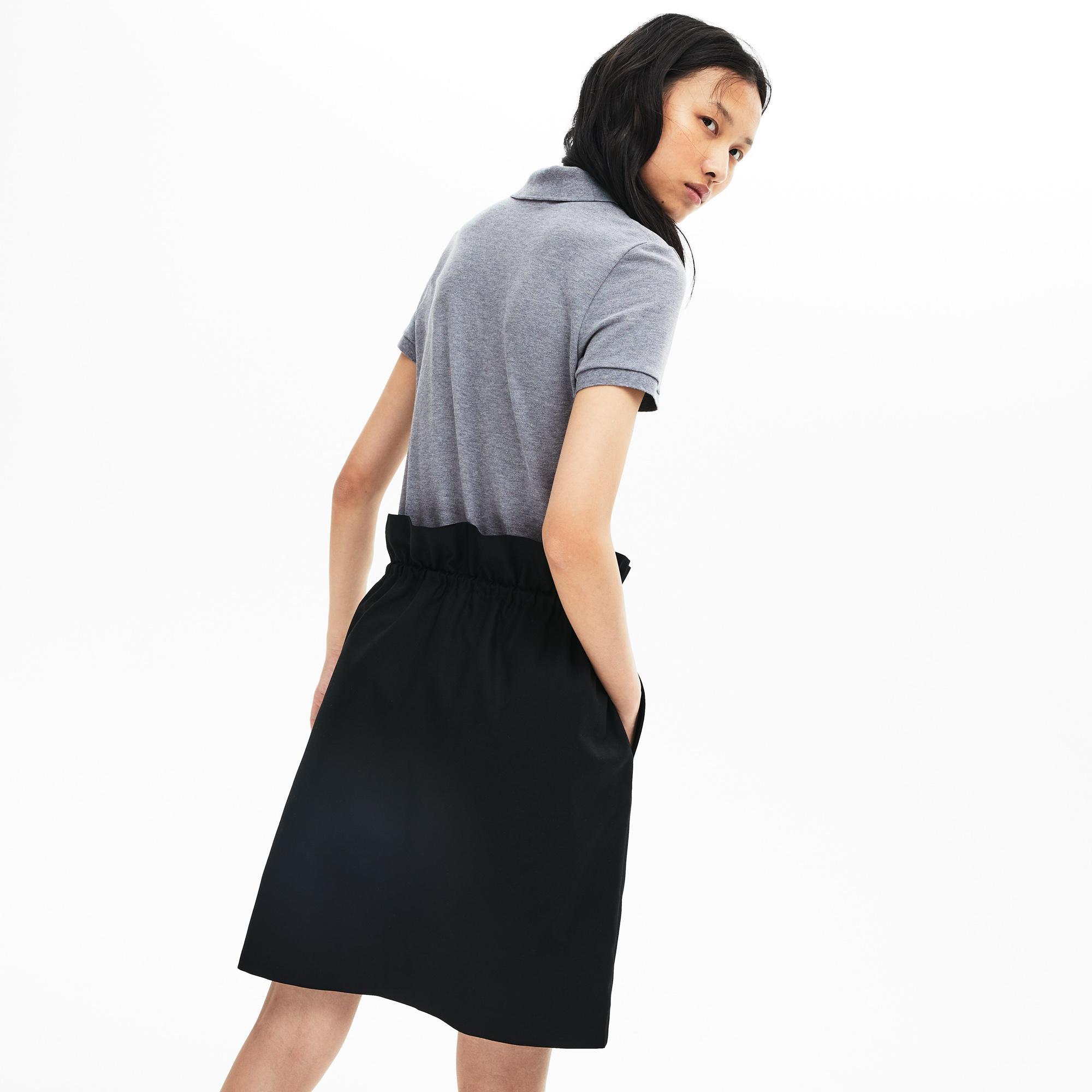 Lacoste Kadın Slim Fit Gri Polo
