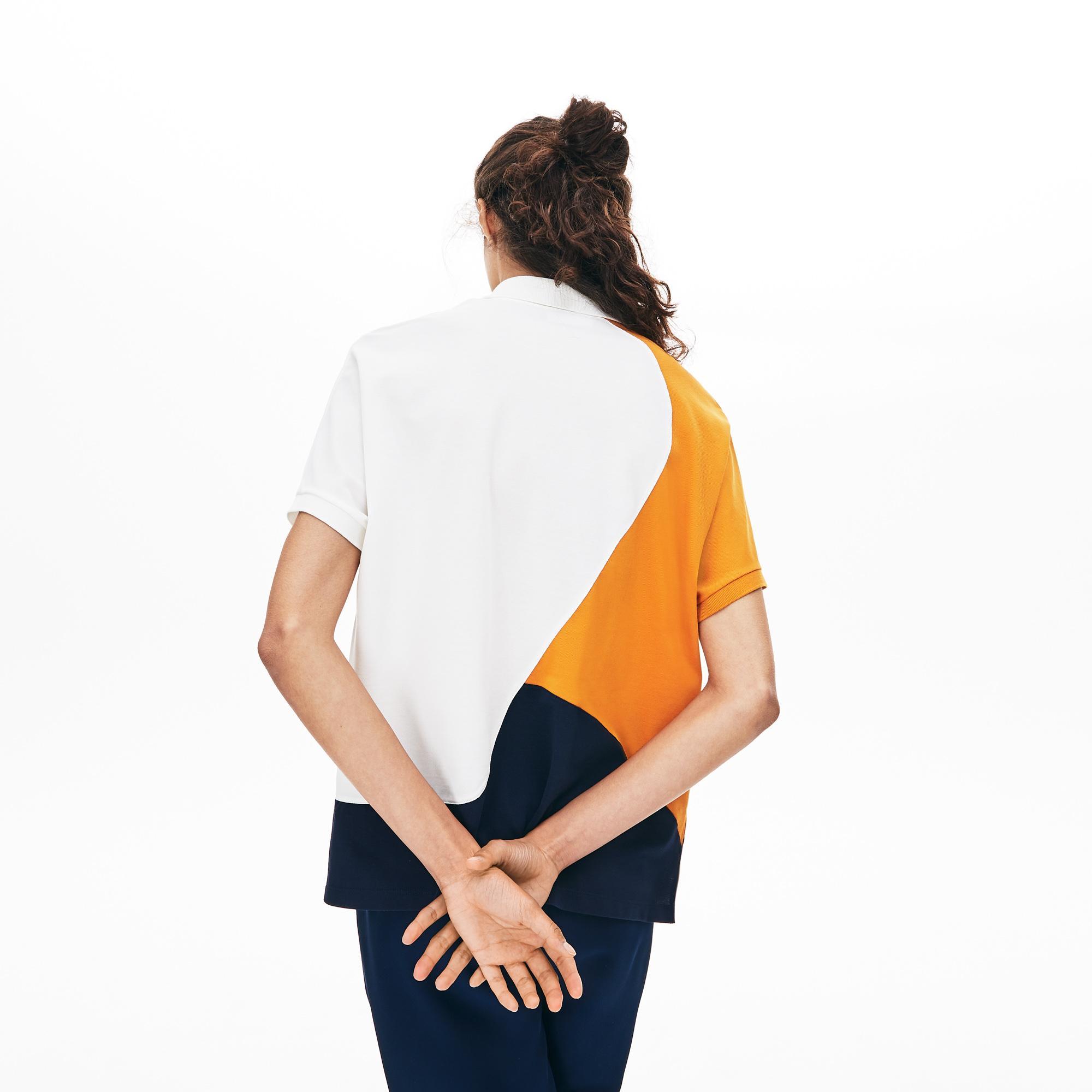 Lacoste Kadın Blok Desenli Renkli Polo