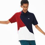 Lacoste Erkek Original Fit Blok Desenli Renkli Polo