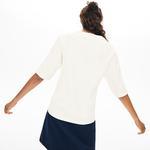 Lacoste Kadın Kısa Kollu Bej Bluz