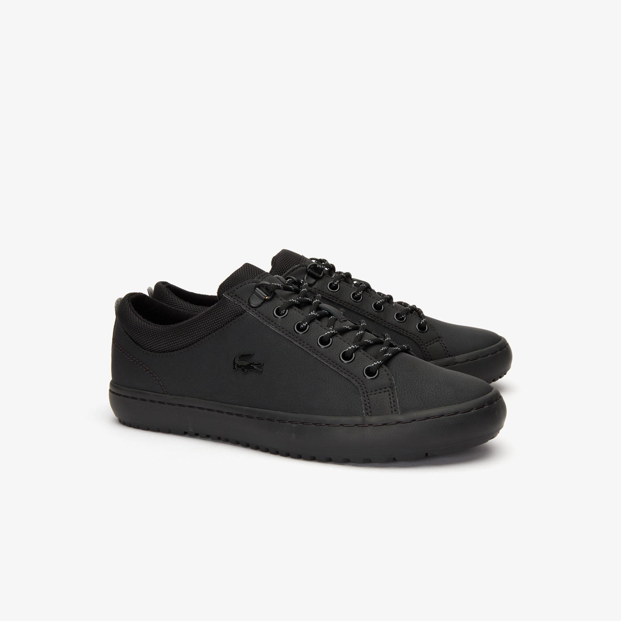Lacoste Straightset Insulate 319 3 Cma Erkek Siyah Casual Ayakkabı