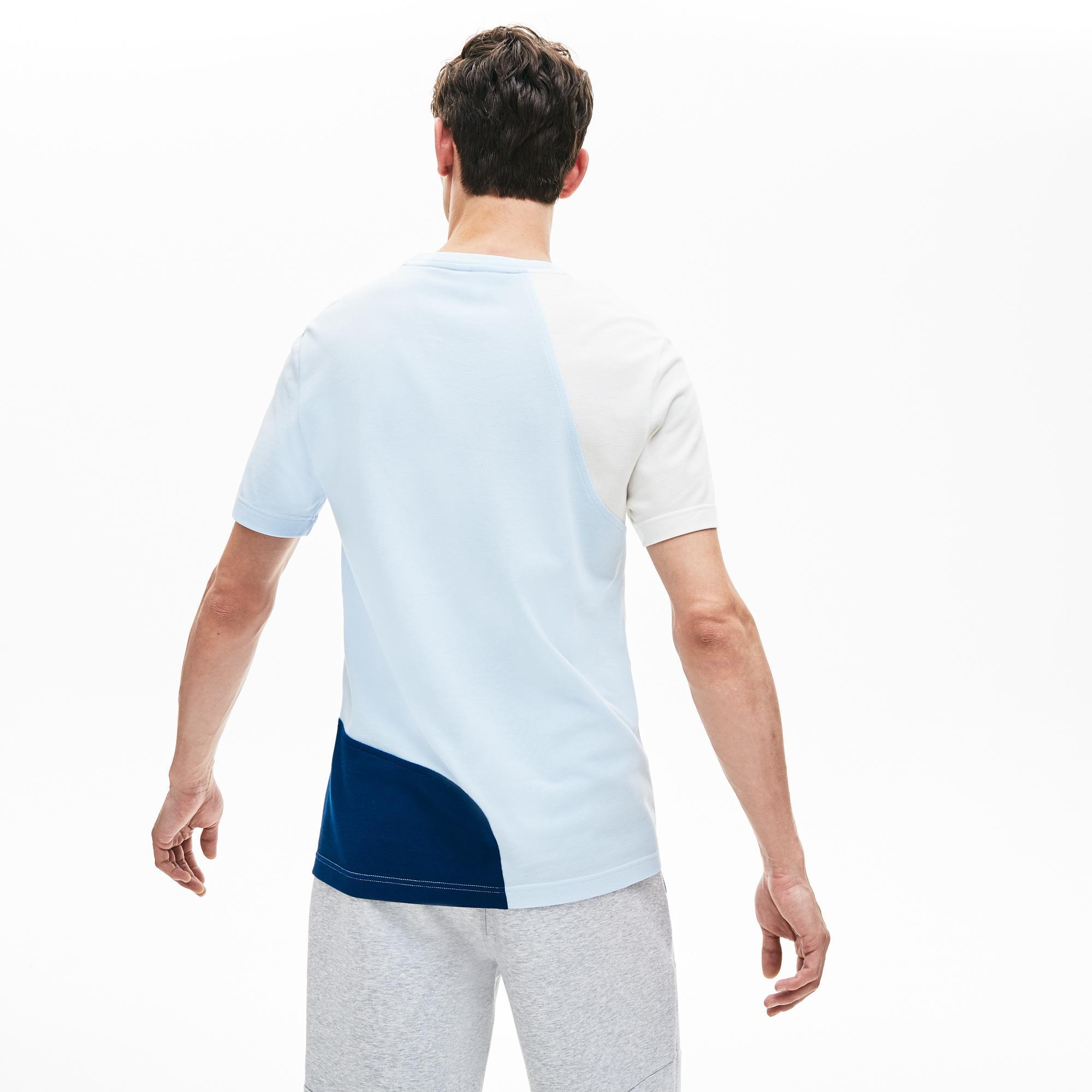 Lacoste Erkek Regular Fit Blok Desenli Mavi T-Shirt