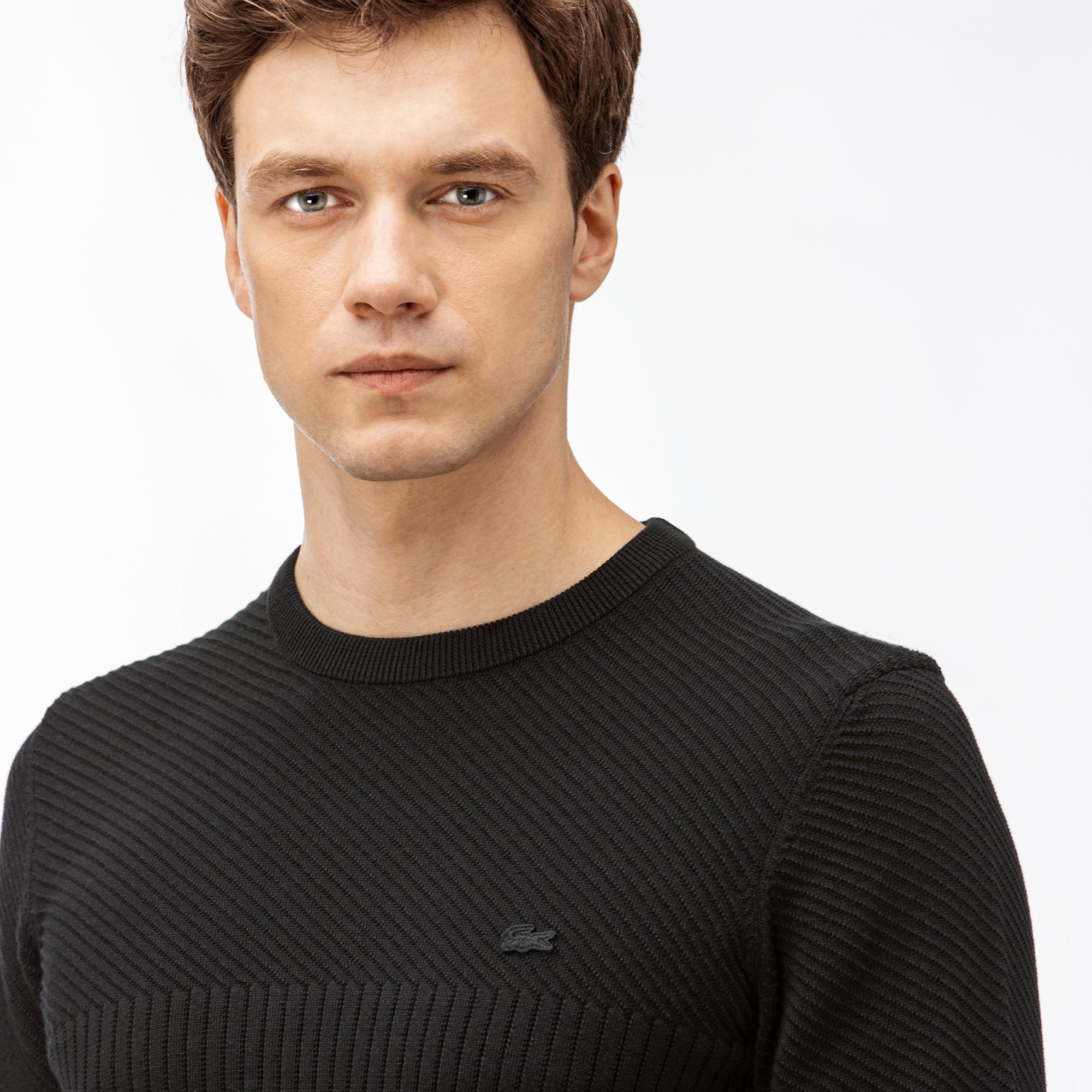 Lacoste Erkek Siyah Triko Kazak