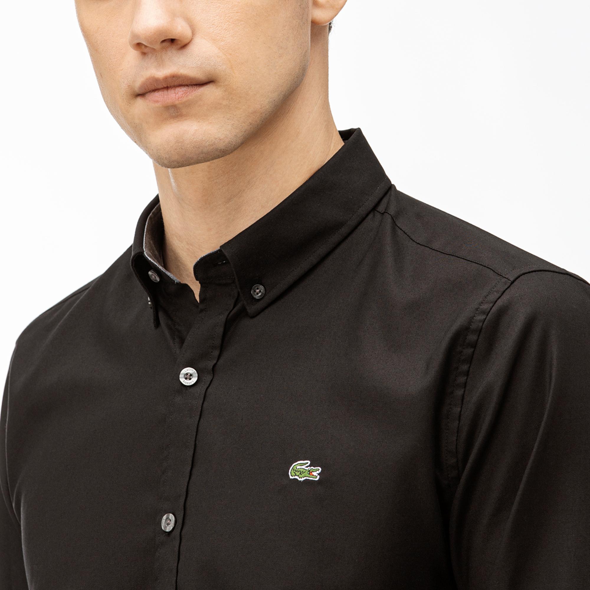 Lacoste Erkek Slim Fit Siyah Gömlek