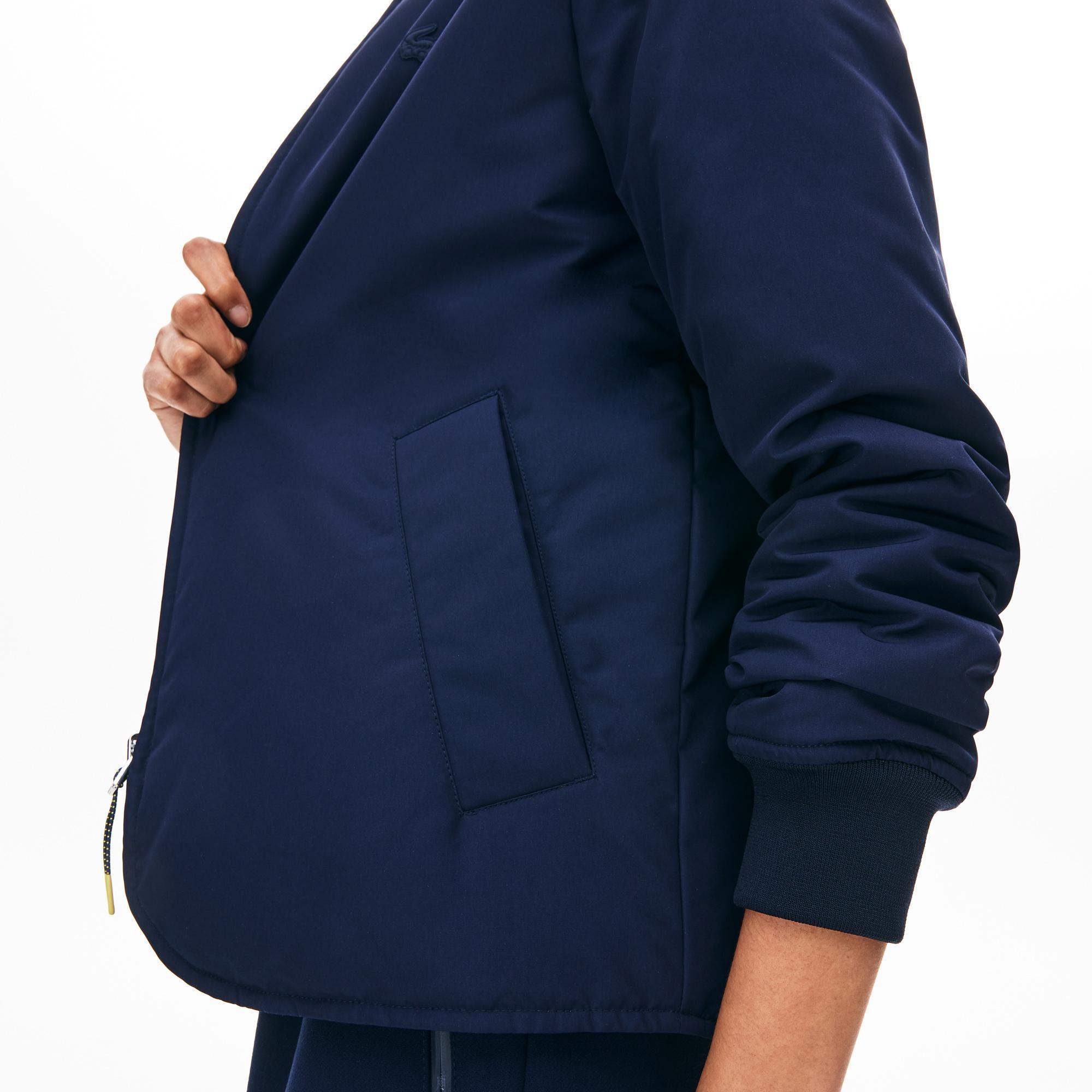 Lacoste Motion Kadın Lacivert - Sarı Çift Taraflı Ceket