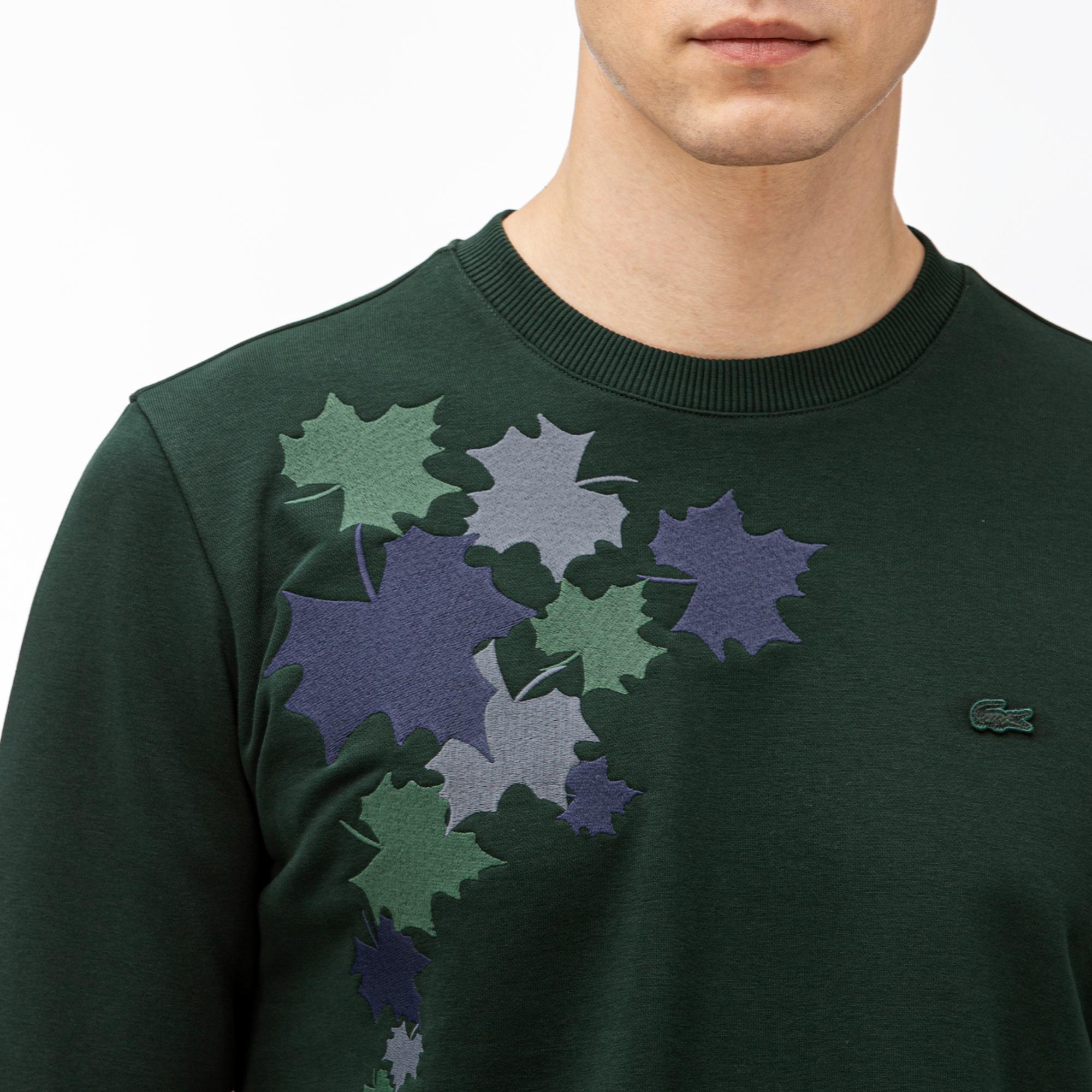 Lacoste Erkek Desenli Yeşil Sweatshirt