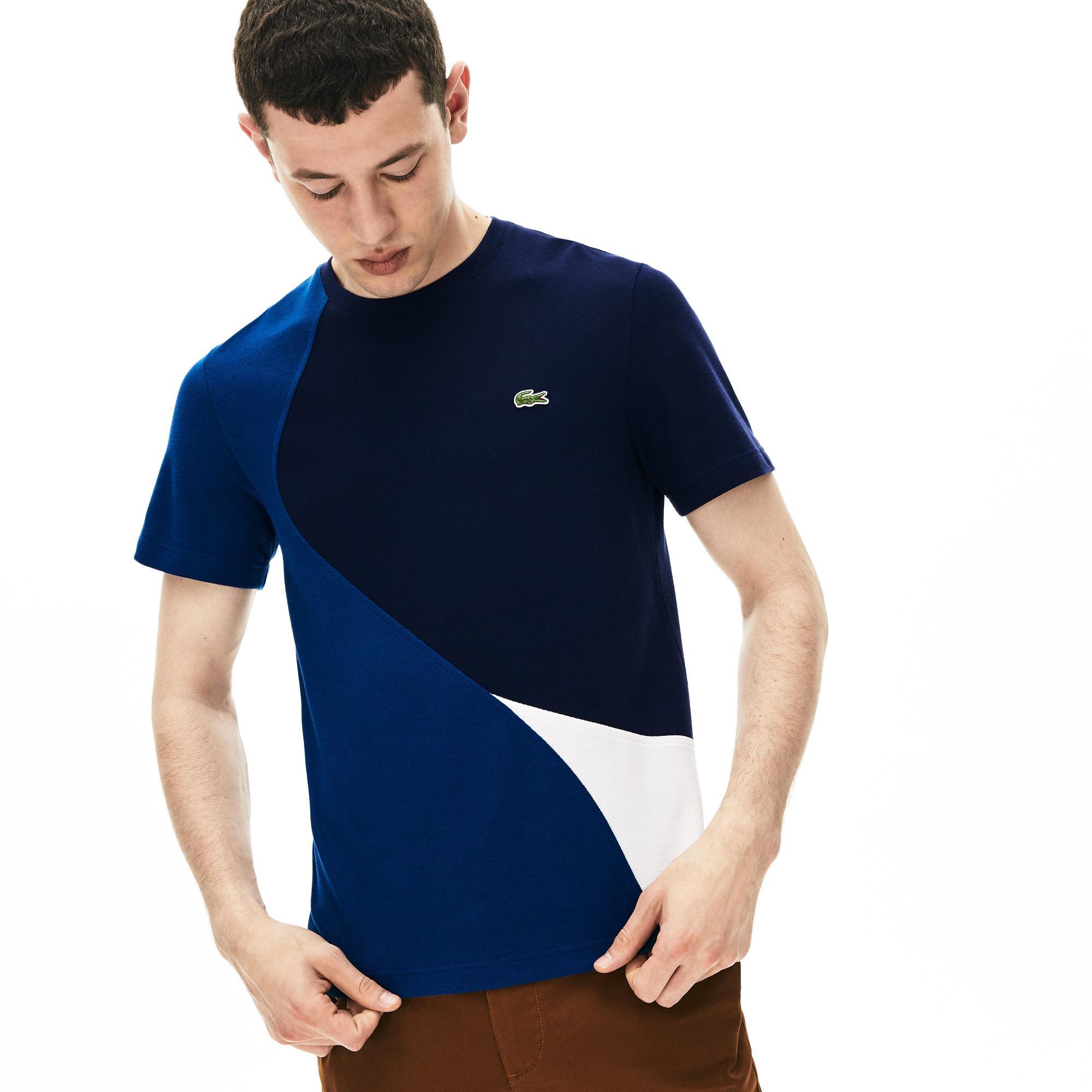 Lacoste Erkek Regular Fit Blok Desenli Renkli T-Shirt