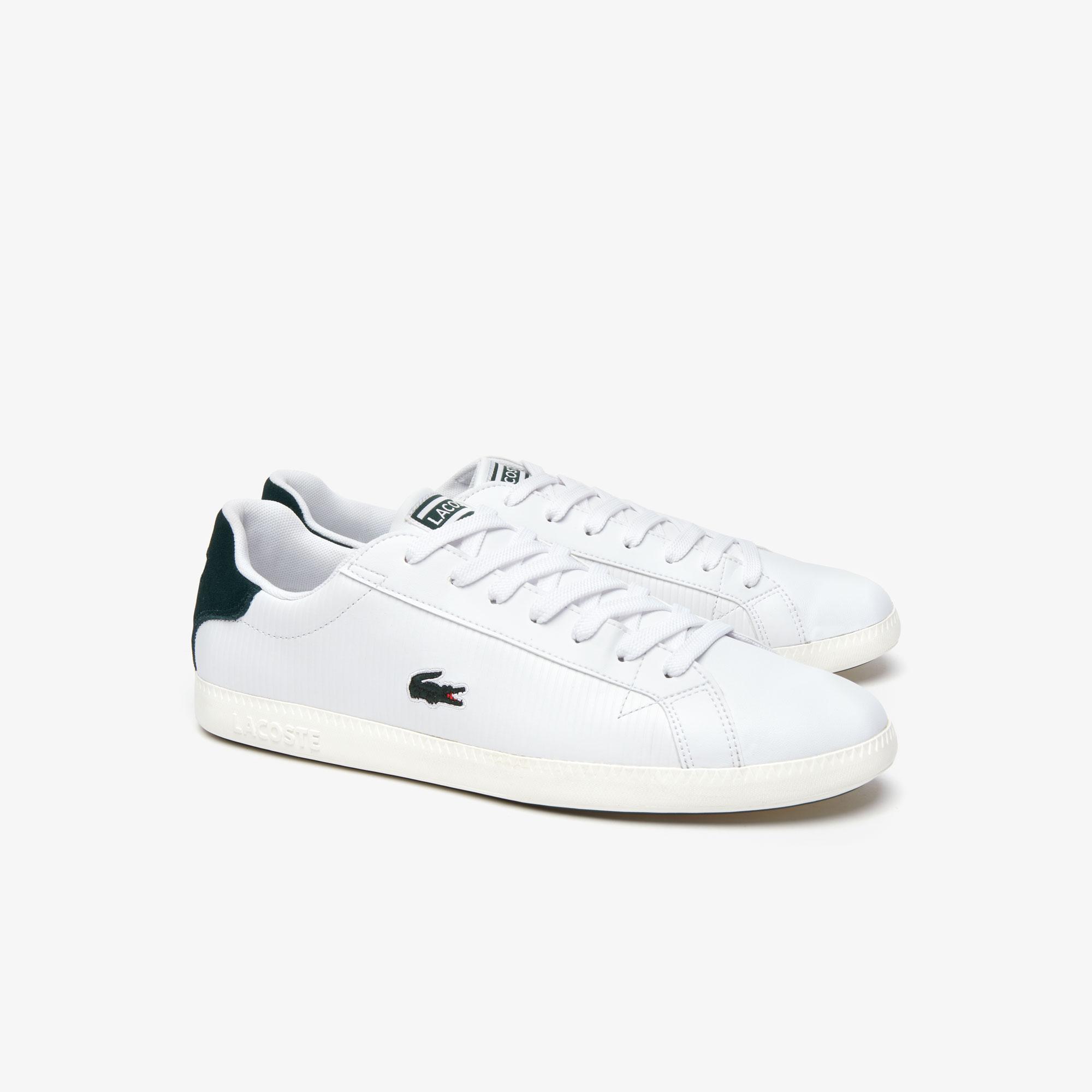 Lacoste Graduate 319 2 Sma Erkek Beyaz - Koyu Yeşil Sneaker