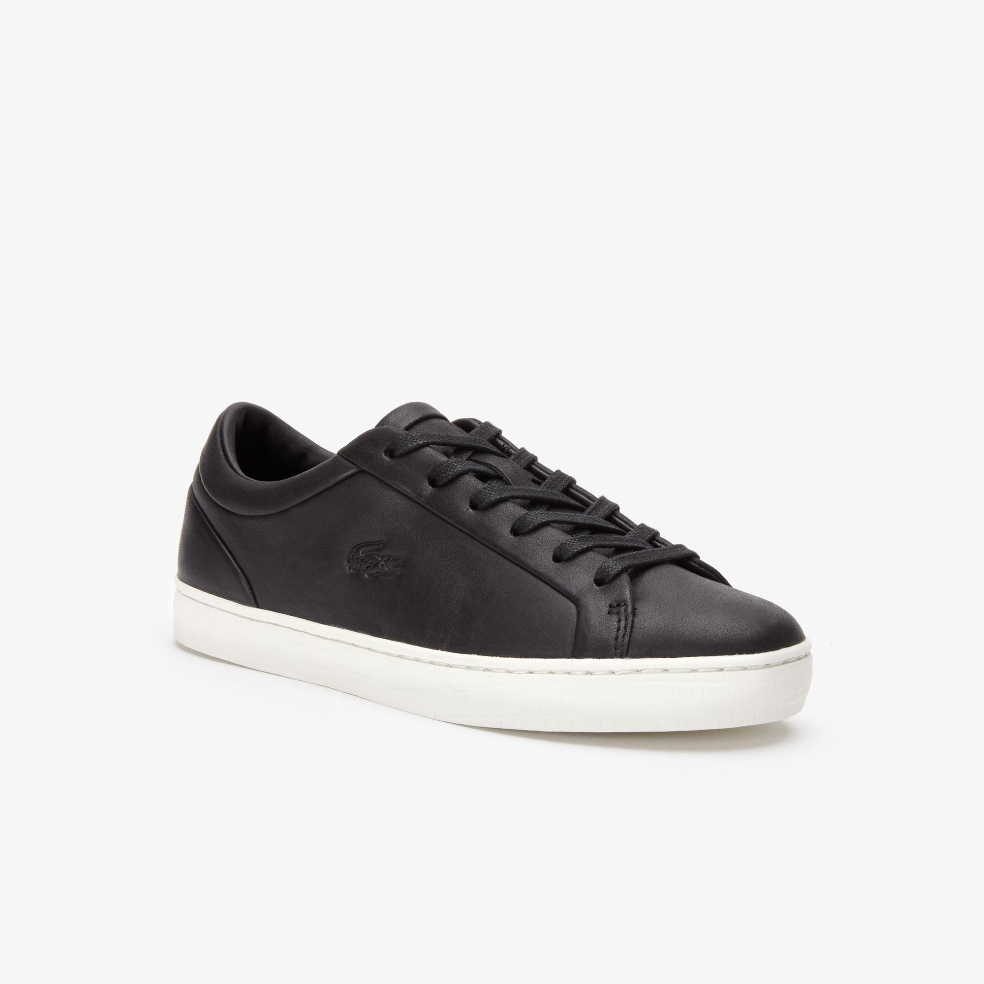 Lacoste Straightset 319 2 cfa Kadın Siyah Sneaker