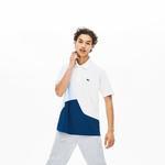Lacoste Erkek Original Fit Blok Desenli Mavi Polo