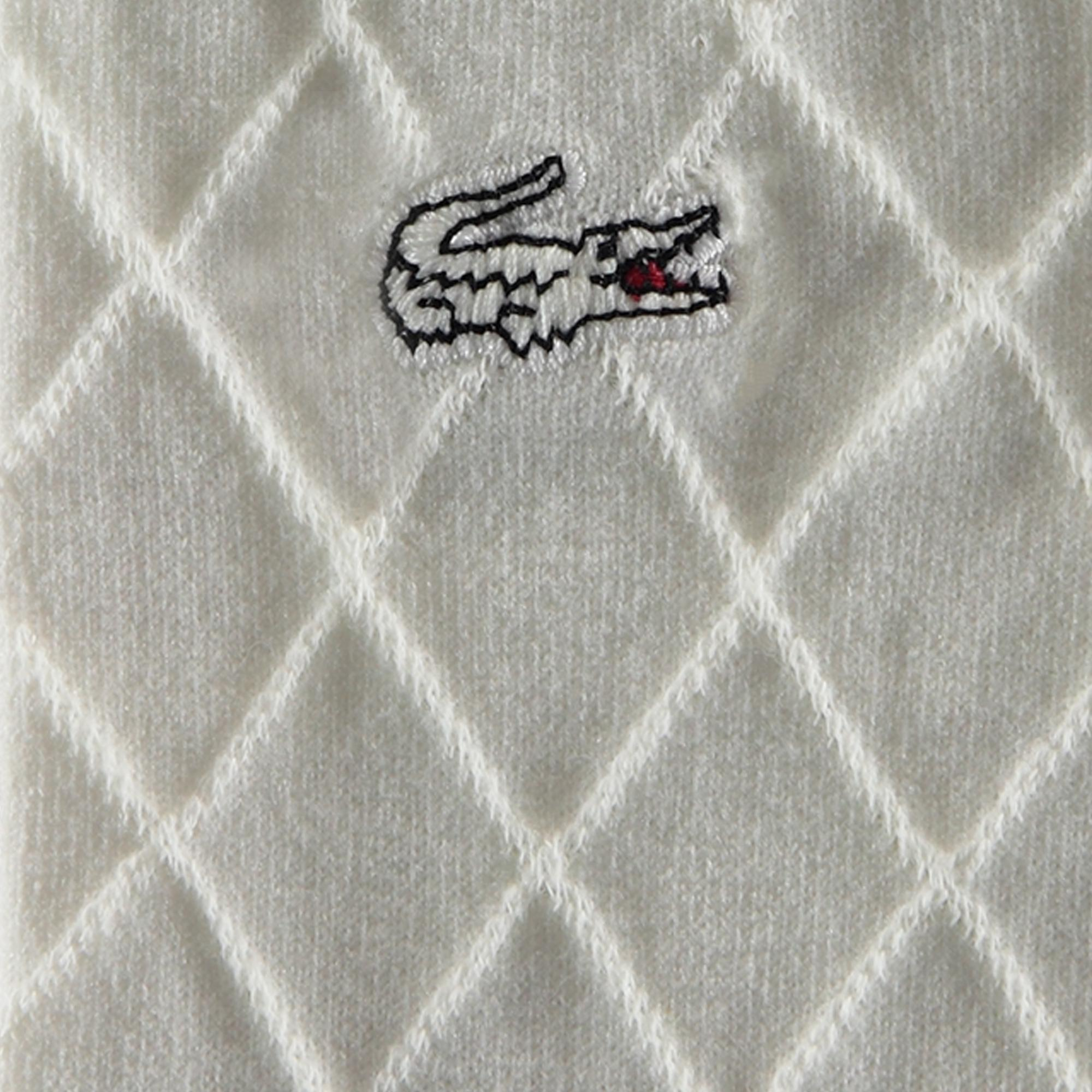 Lacoste Unisex Çizgili Beyaz Çorap