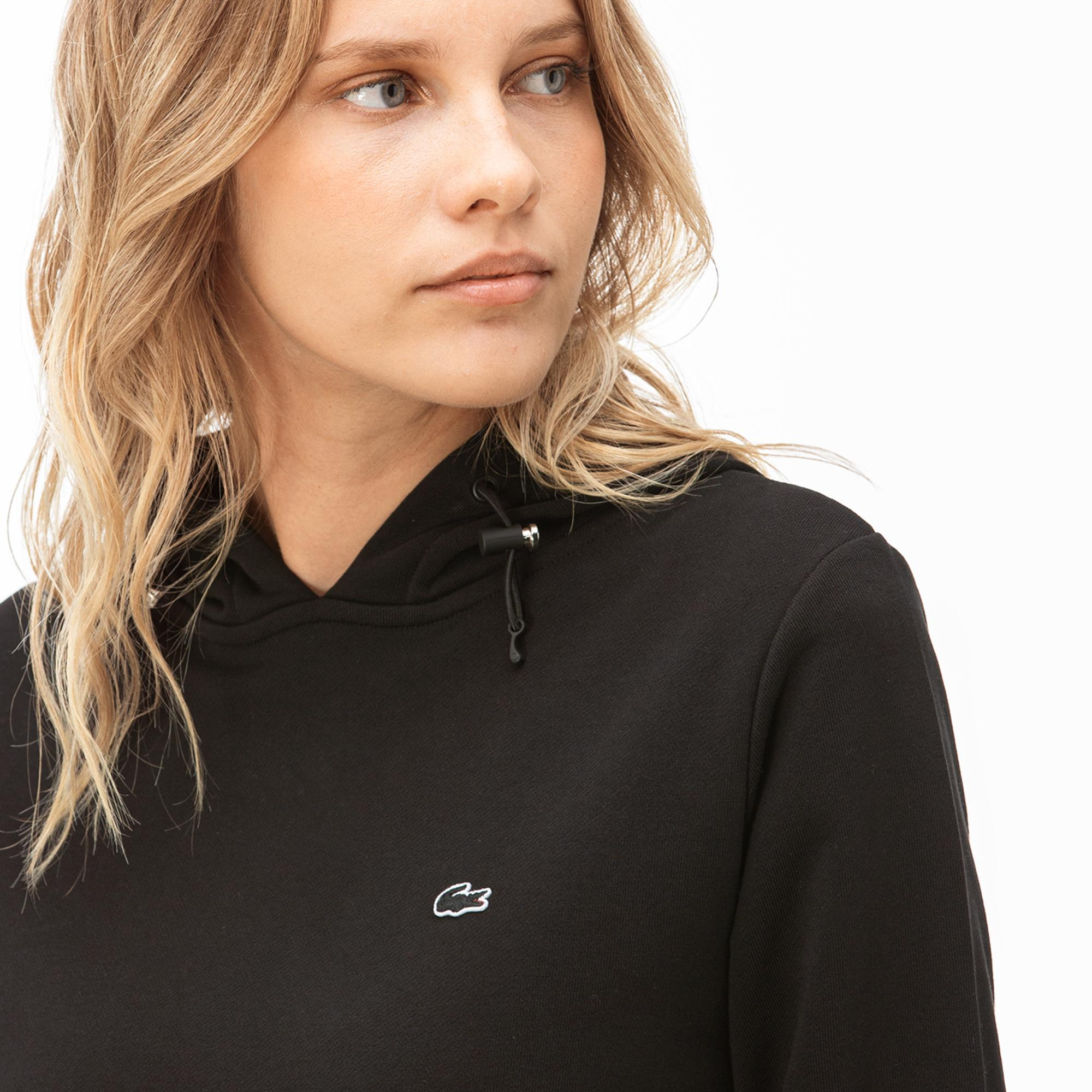 Lacoste Kadın Kapüşonlu Siyah Sweatshirt
