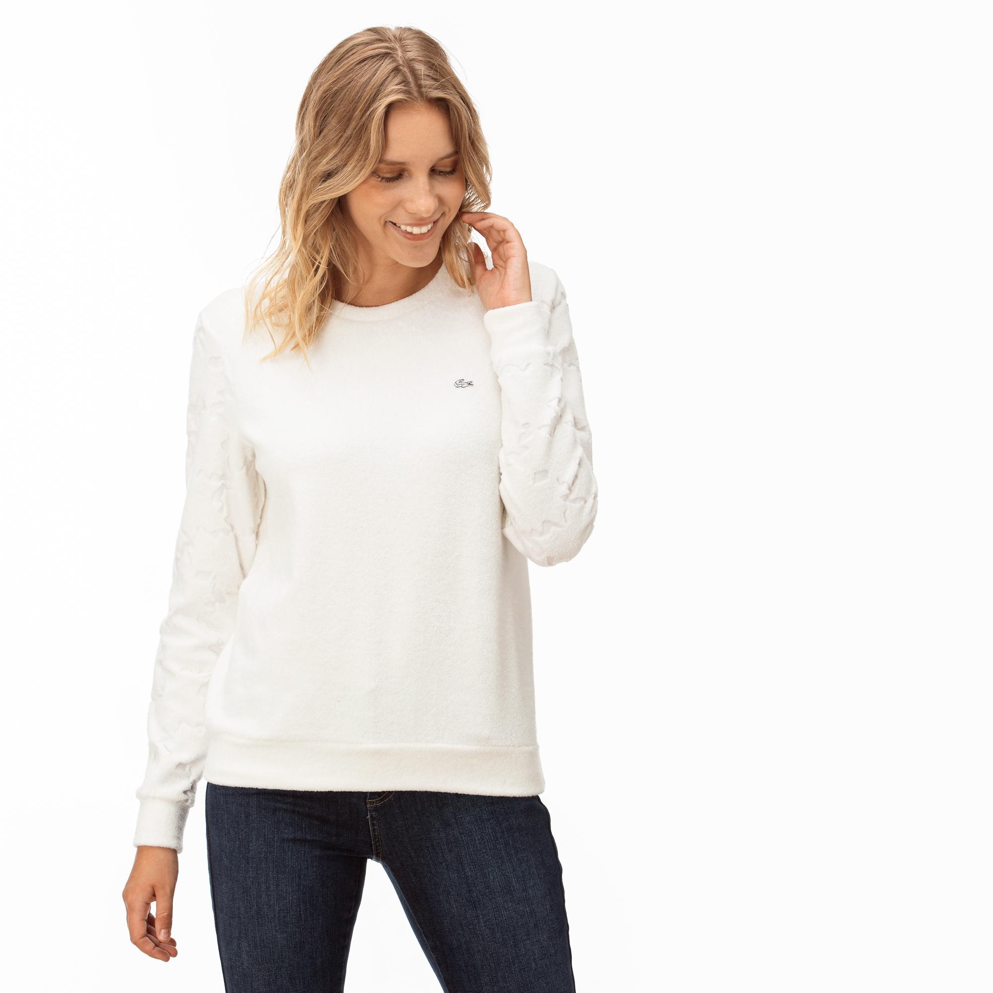 Lacoste Kadın Krem Sweatshirt