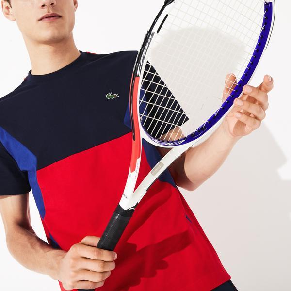 Lacoste Sport Erkek Blok Desenli Kırmızı T-Shirt