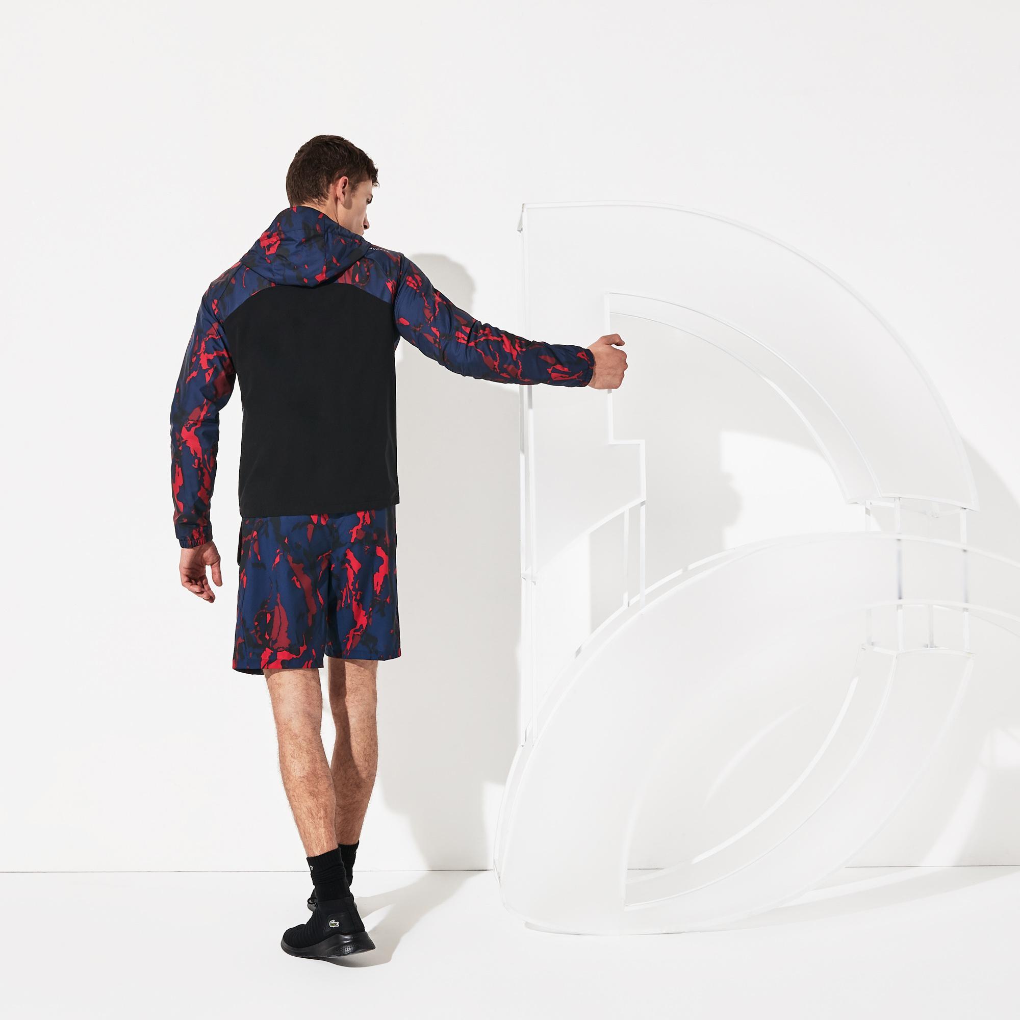 Lacoste Novak Djokovic Erkek Lacivert Desenli Mont