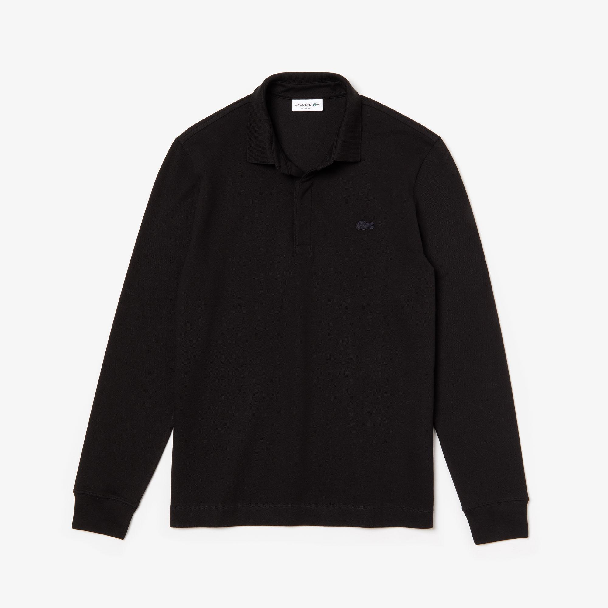 Lacoste Erkek Regular Fit Uzun Kollu Siyah Paris Polo
