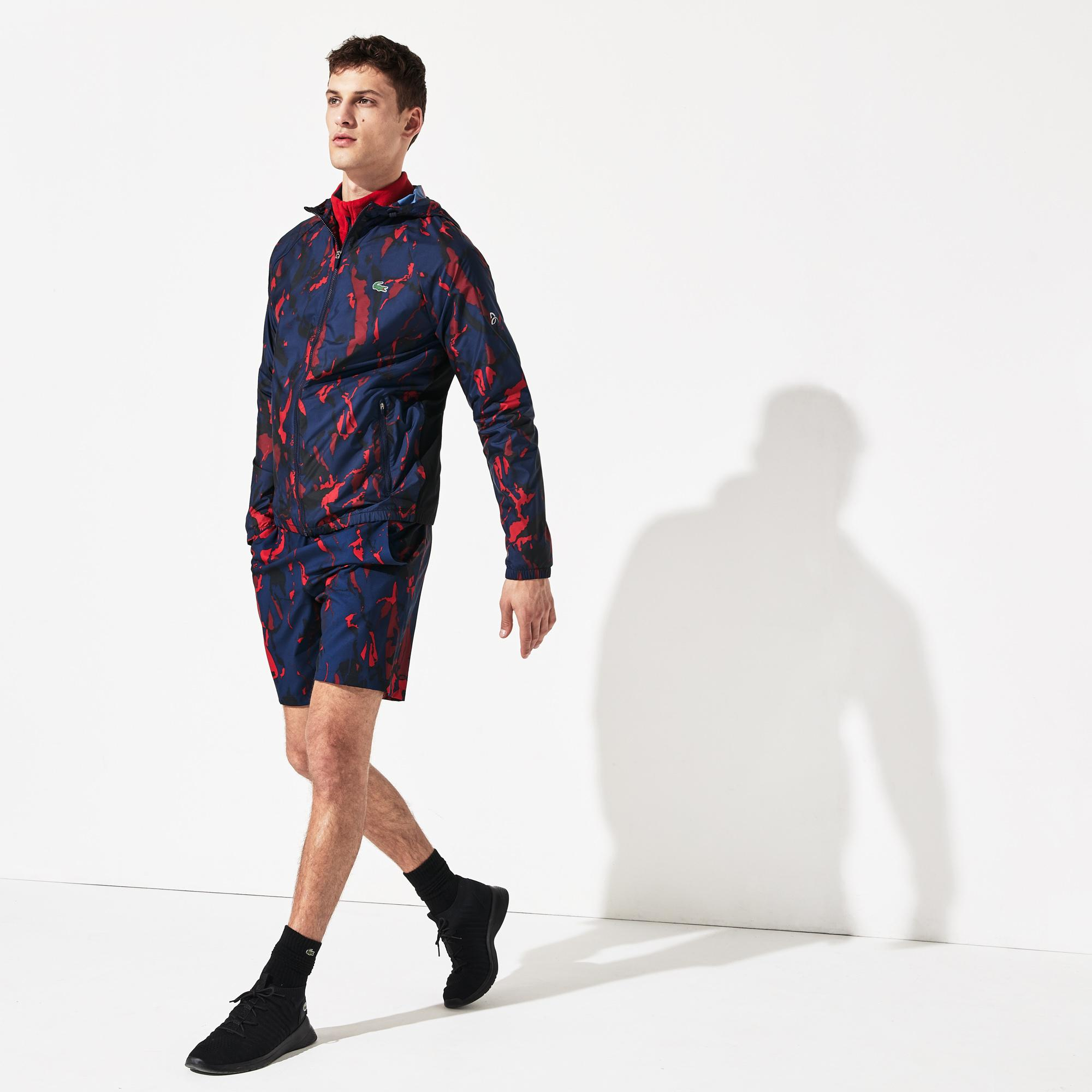 Lacoste Novak Djokovic Erkek Desenli Lacivert Mont