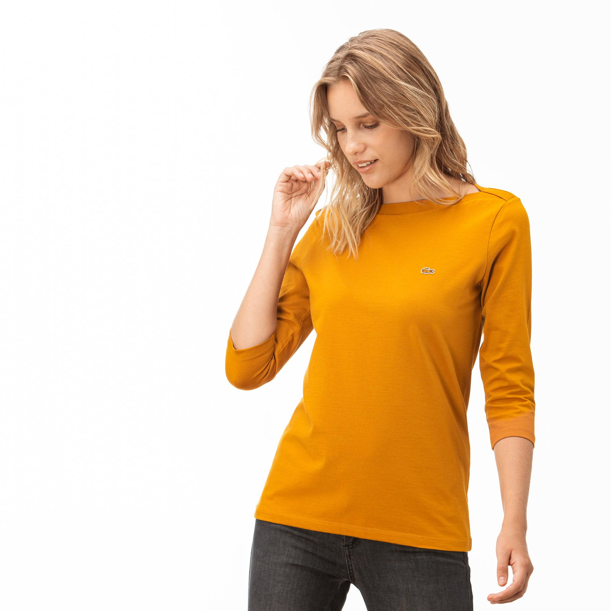 Lacoste Kadın Sarı Truvakar Kollu T-Shirt
