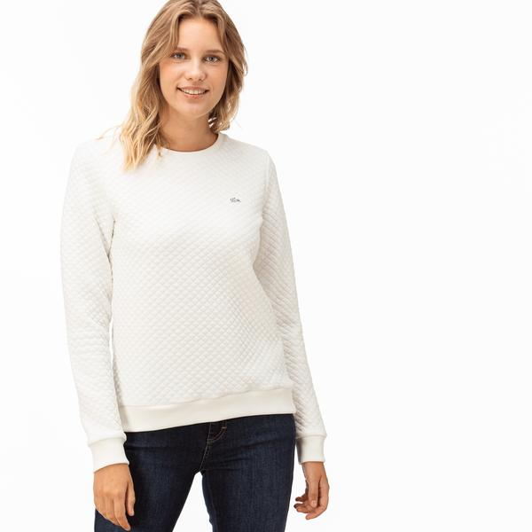 Lacoste Kadın Beyaz Sweatshirt