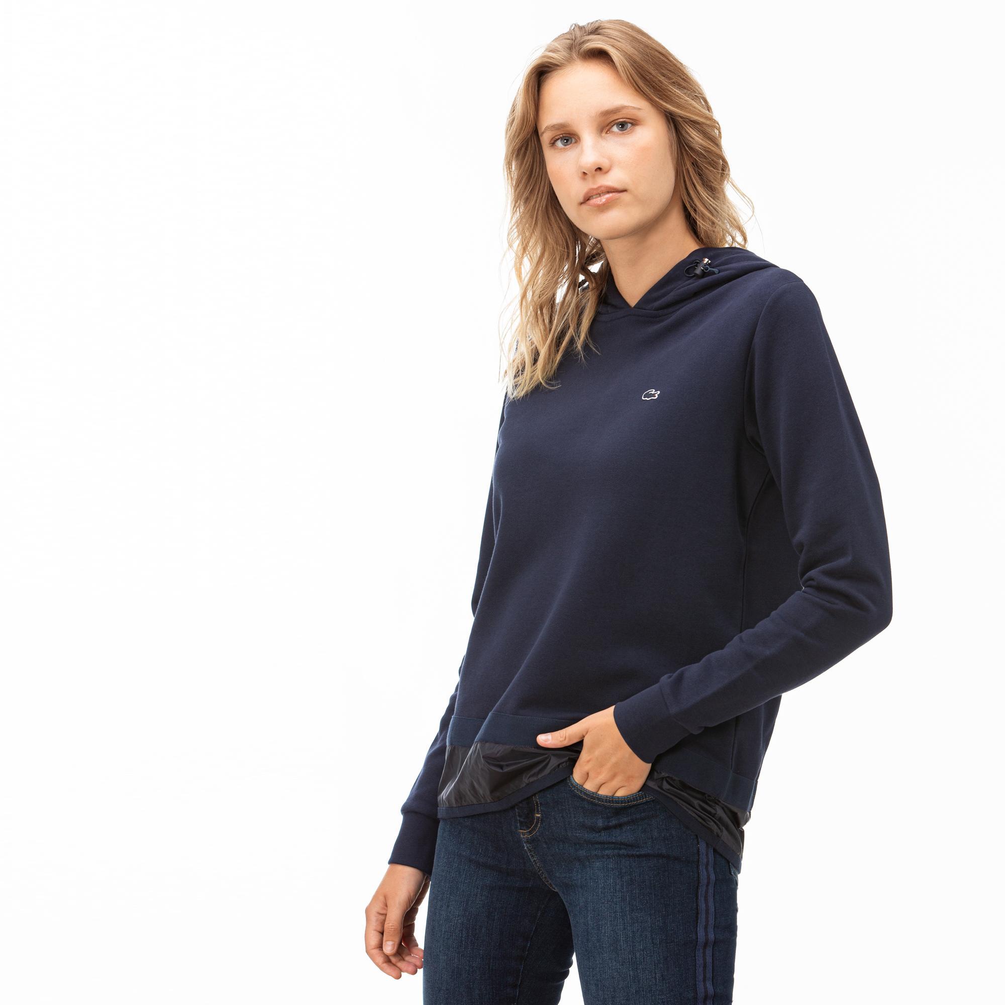 Lacoste Kadın Kapüşonlu Lacivert Sweatshirt