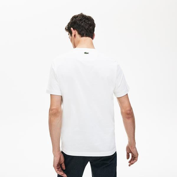 Lacoste Erkek Regular Fit Baskılı Bej T-Shirt