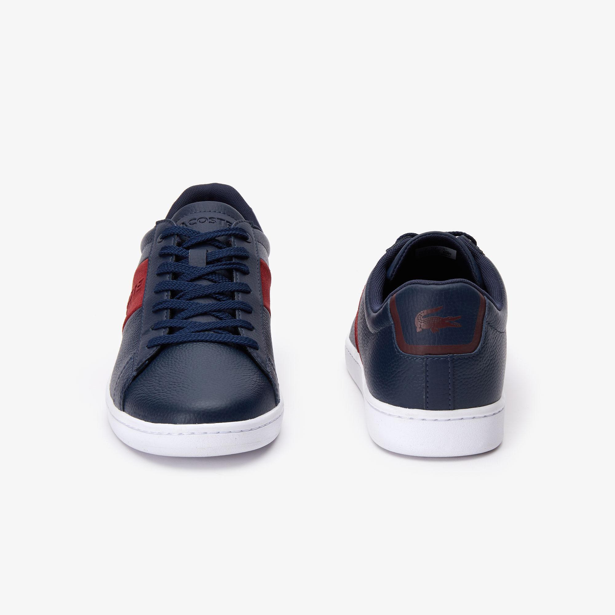 Lacoste Carnaby Evo 319 1 Sma Erkek Lacivert - Koyu Kırmızı Sneaker