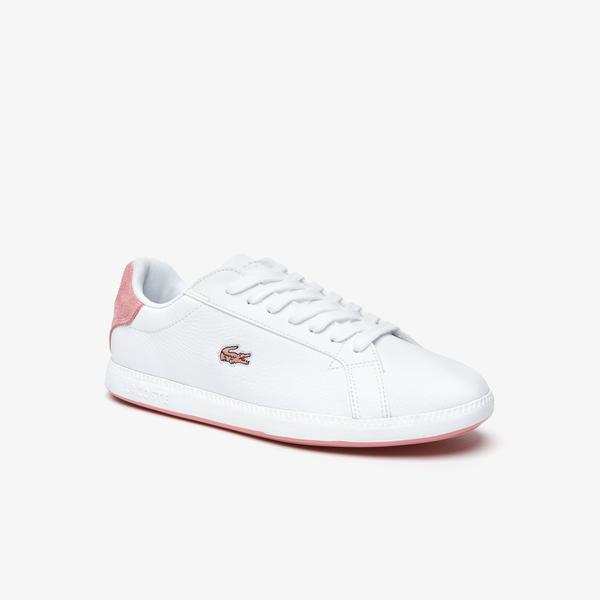 Lacoste Graduate 319 1 Sfa Kadın Beyaz - Pembe Sneaker