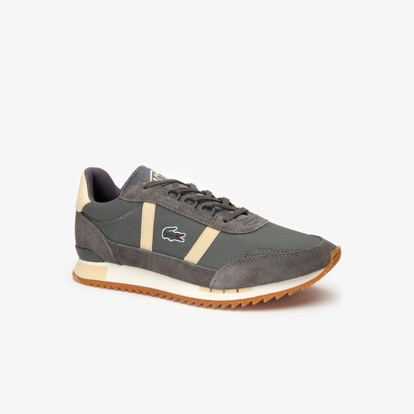 Lacoste Partner Retro 319 1 Sfa Kadın Koyu Gri - Bej Sneaker