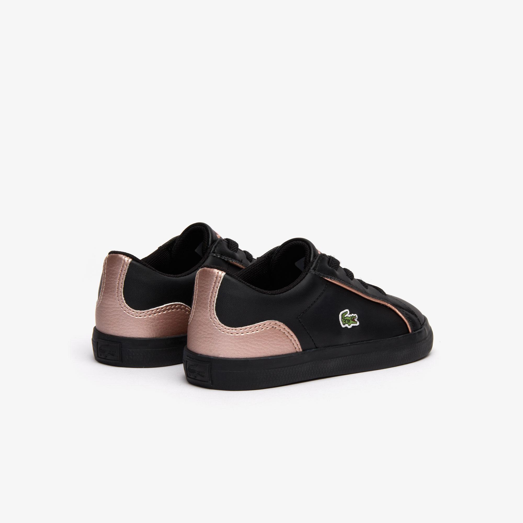Lacoste Lerond 319 2 Cui Çocuk Siyah - Pembe Casual Ayakkabı