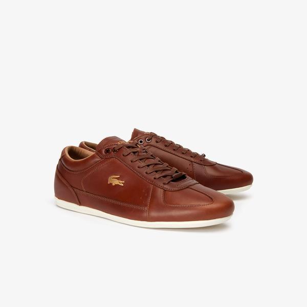 Lacoste Evara Premium 319 1 Us Cma Erkek Kahverengi - Bej Casual Ayakkabı