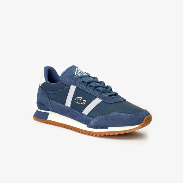Lacoste Partner Retro 319 1 Sfa Kadın Koyu Mavi - Bej Sneaker