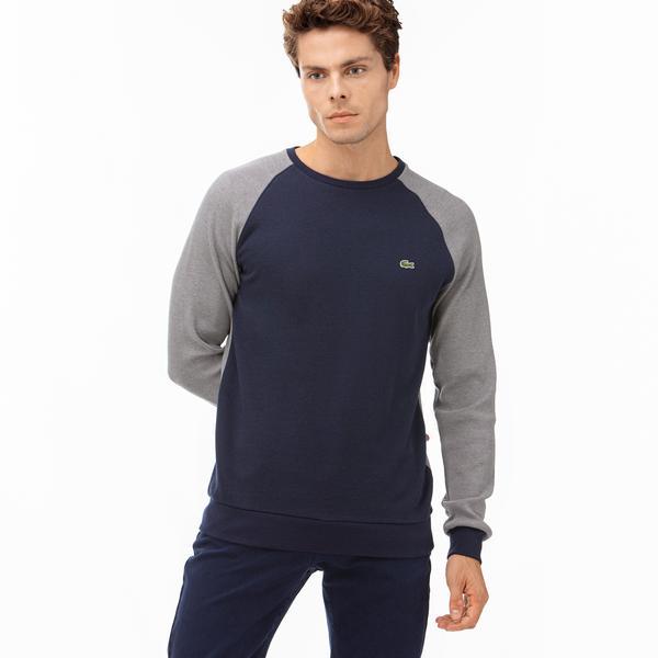 Lacoste Erkek Blok Desenli Lacivert Uzun Kollu T-Shirt