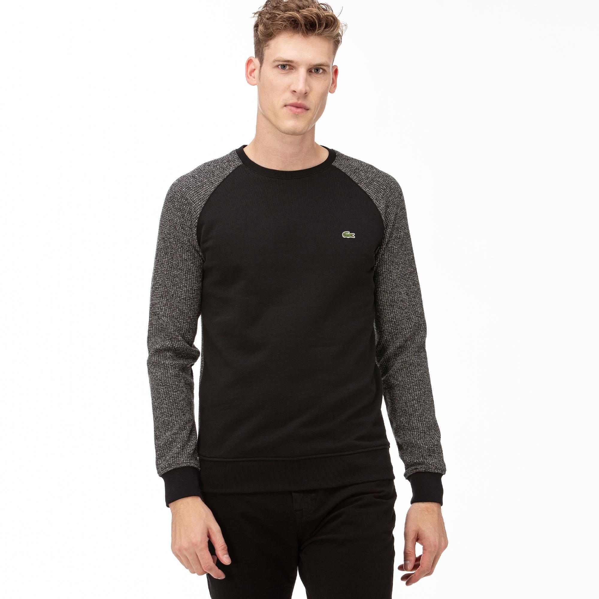 Lacoste Erkek Siyah Uzun Kollu Sweatshirt