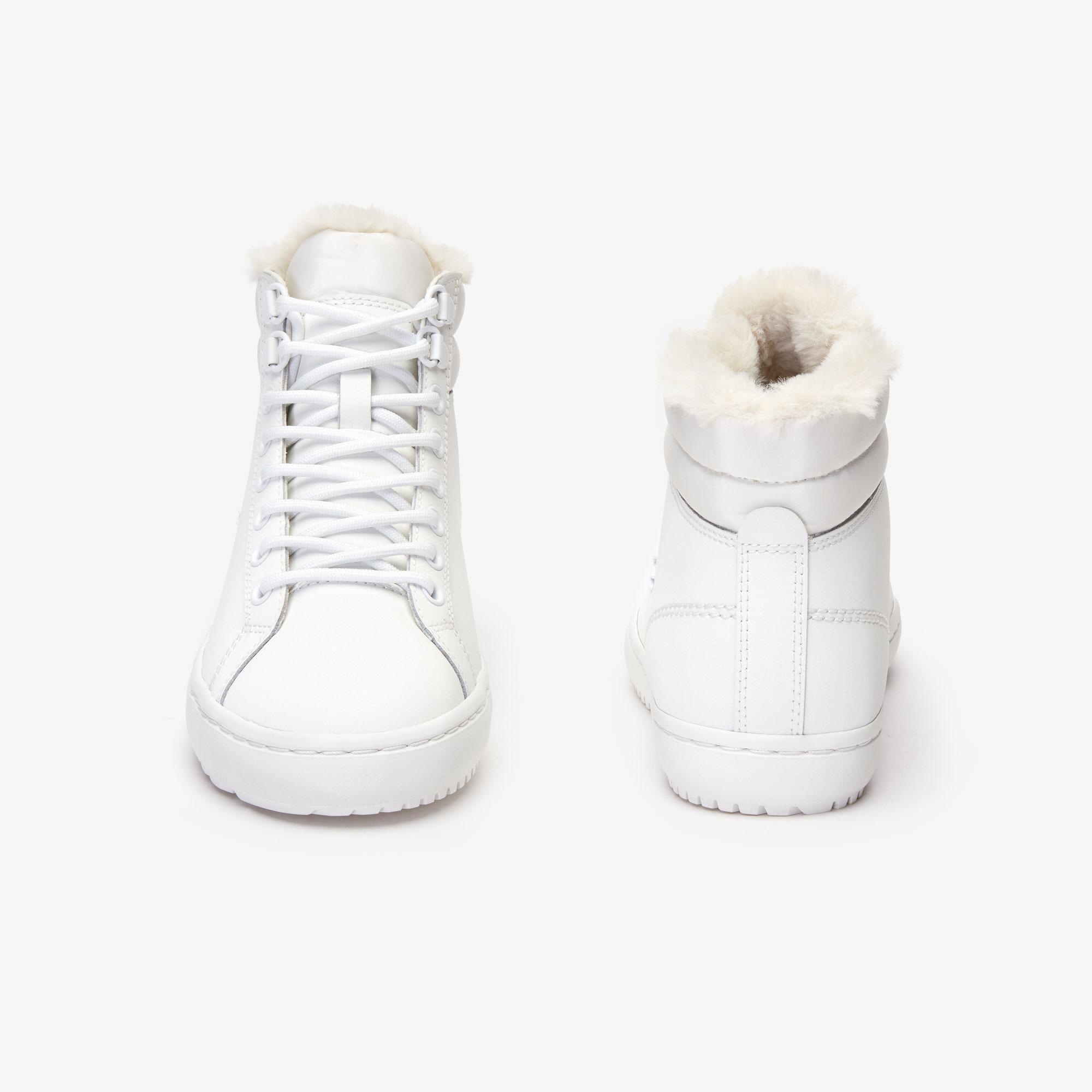Lacoste Straightset Thermo 4191 Cfa Kadın Beyaz Bot