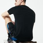 Lacoste Erkek Siyah Baskılı Desenli T-Shirt