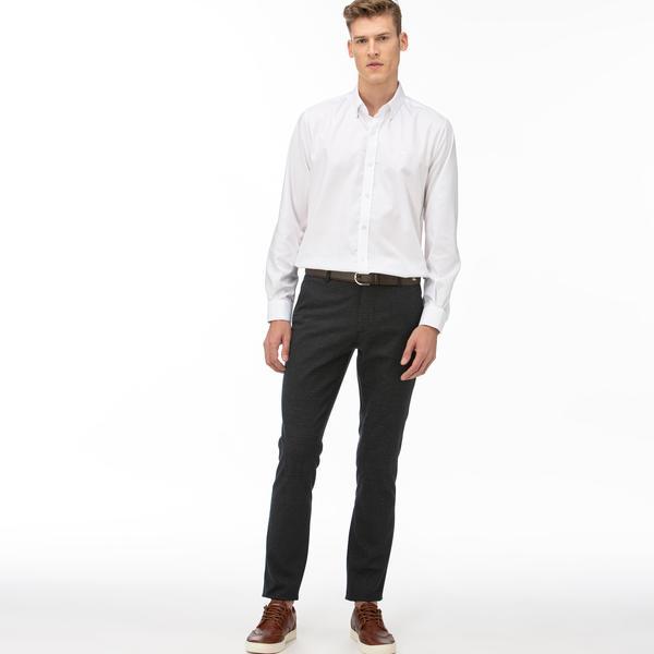 Lacoste Erkek Ekose Lacivert Pantolon