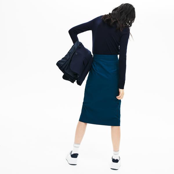 Lacoste Kadın Düğmeli Mavi Etek