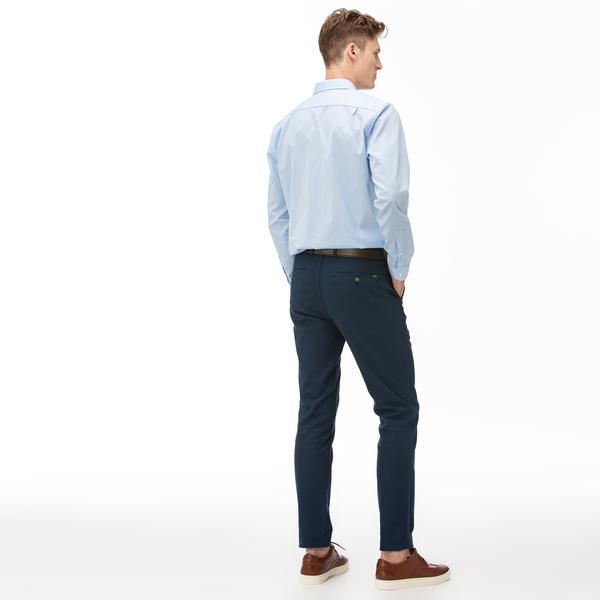 Lacoste Erkek Slim Fit Çizgili Lacivert Pantolon