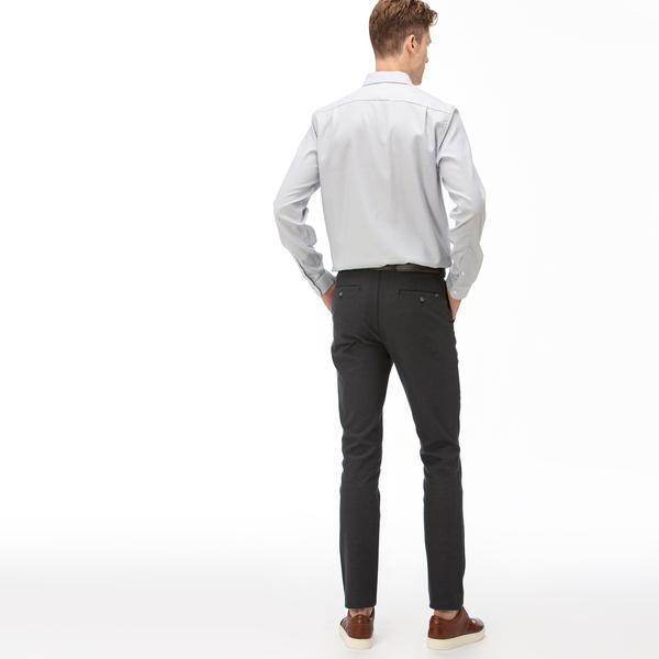 Lacoste Erkek Slim Fit Çizgili Koyu Gri Pantolon