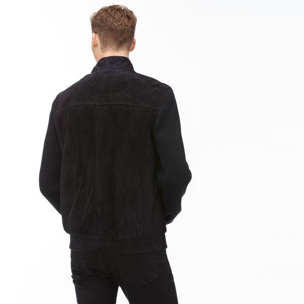 Lacoste Erkek Lacivert Deri Ceket