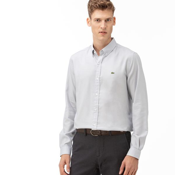 Lacoste Erkek Regular Fit Açık Mavi Gömlek