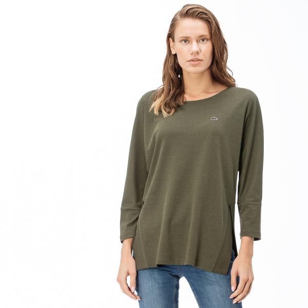 Lacoste Kadın Yeşil Uzun Kollu T-Shirt