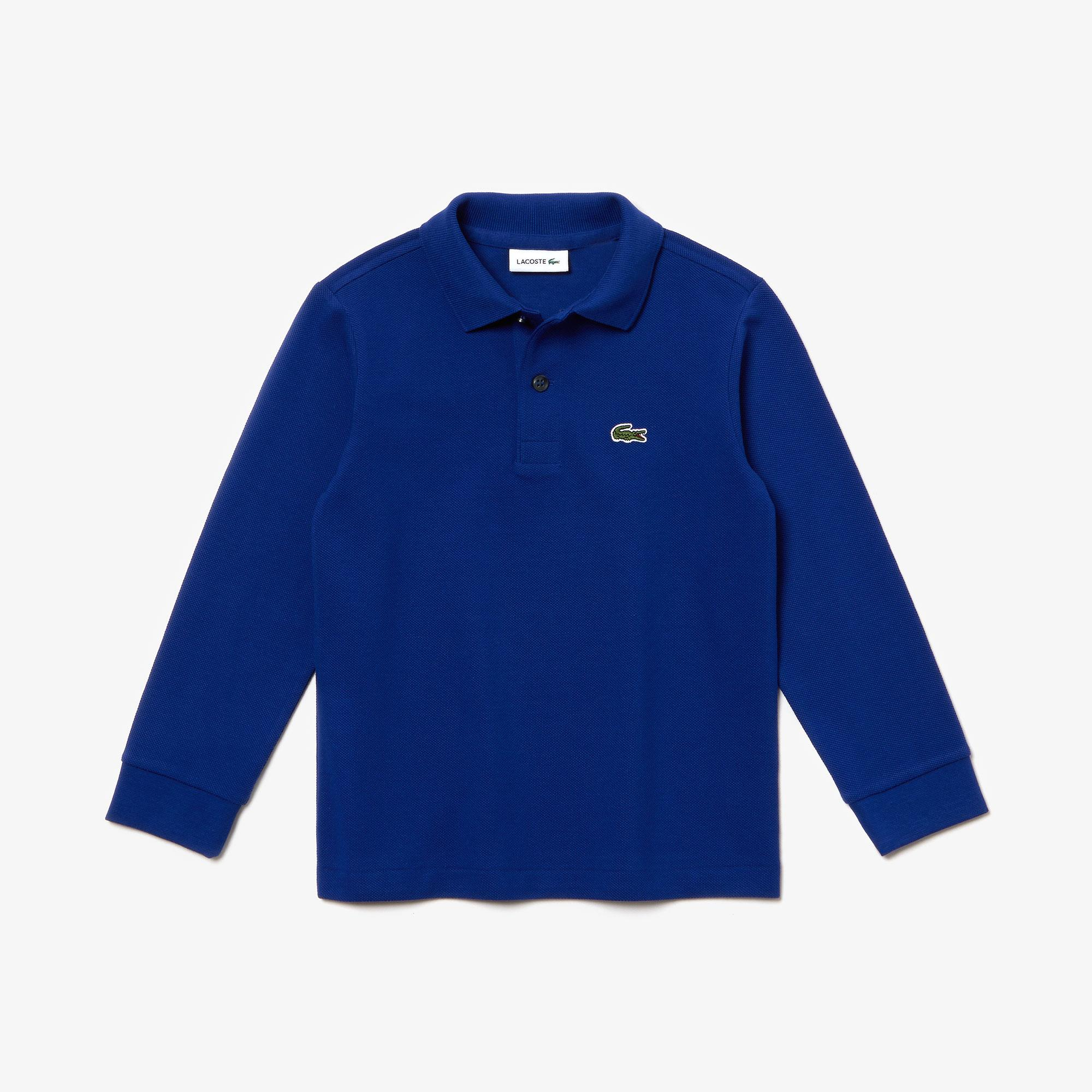 Lacoste Çocuk Uzun Kollu Mavi Polo