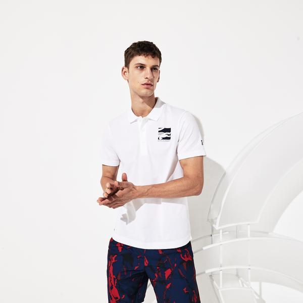 Lacoste Novak Djokovic Erkek Beyaz Polo