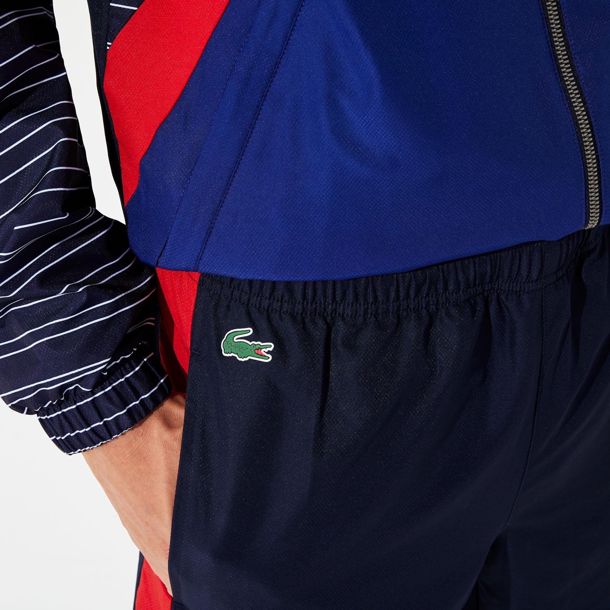 Lacoste Sport Erkek Blok Desenli Dik Yaka Renkli Eşofman Takımı