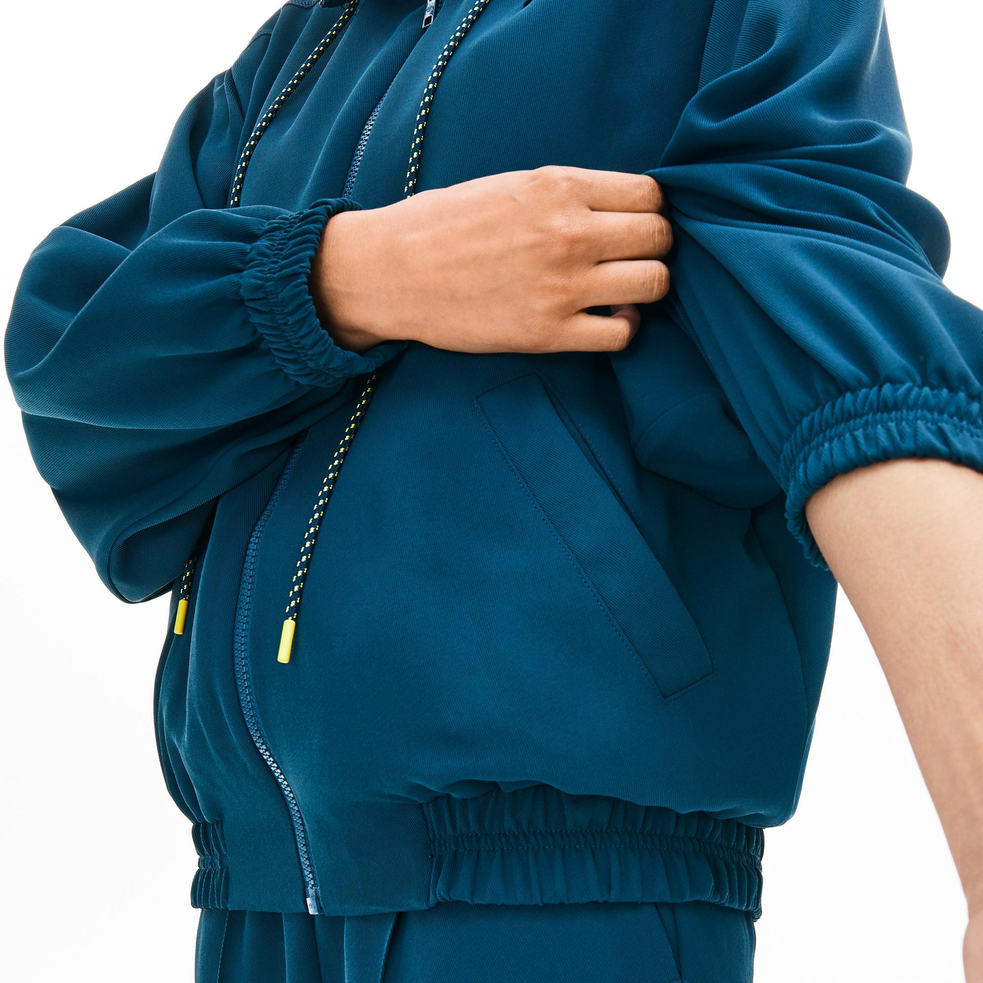 Lacoste Motion Kadın Bol Kesim Kapüşonlu Mavi Sweatshirt