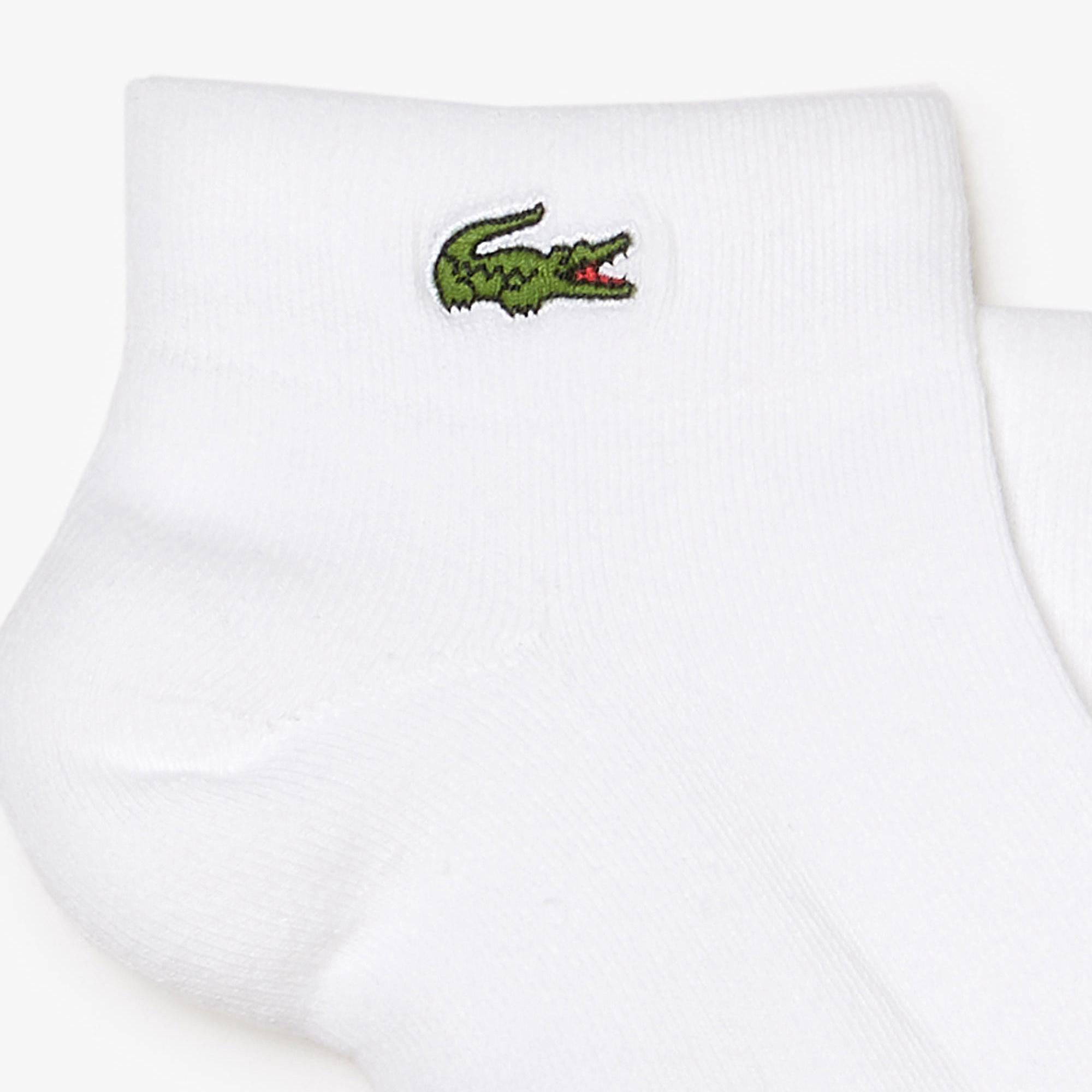 Lacoste Sport Unisex Beyaz Çorap