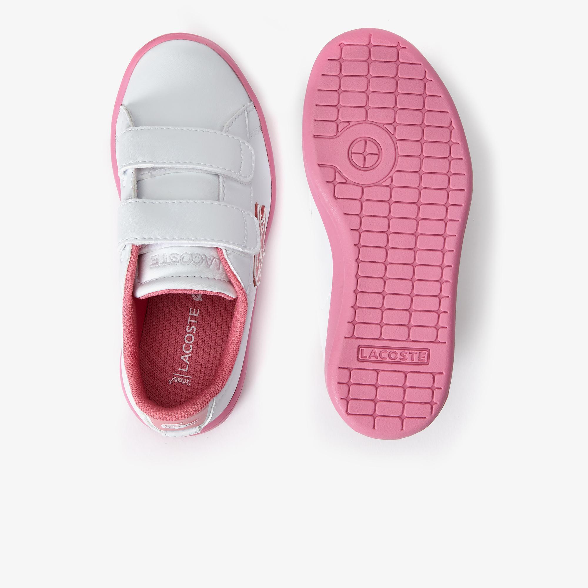 Lacoste Carnaby Evo 319 1 Sui Çocuk Beyaz - Pembe Sneaker